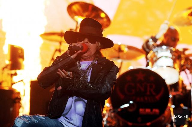 C'est sans Slash que le groupe Guns N'... (Photothèque Le Soleil, Erick Labbé)