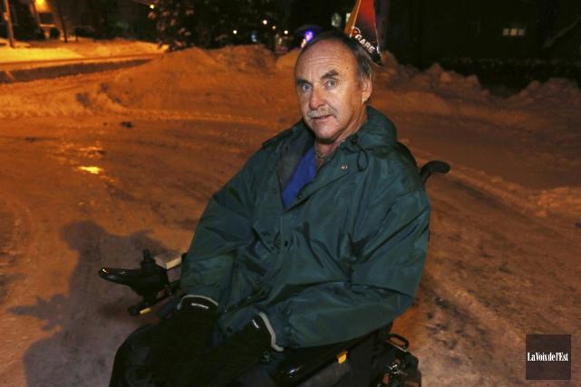 L'hiver venu, les déplacements de Michel Bolduc se... (Catherine Trudeau, La Voix de l'Est)