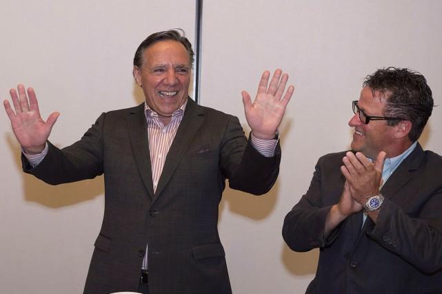 François Legault et Donald Martel.... (Archives PC)