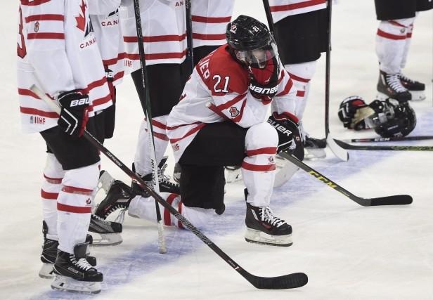 Anthony Beauvillier était découragé après la défaite de... (La Presse Canadienne, Sean Kilpatrick)