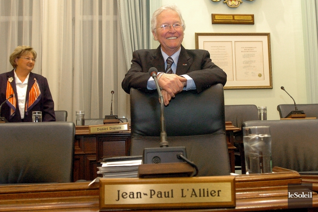 Le maire L'Allier s'est définitivement retiré de la... (Photothèque Le Soleil)