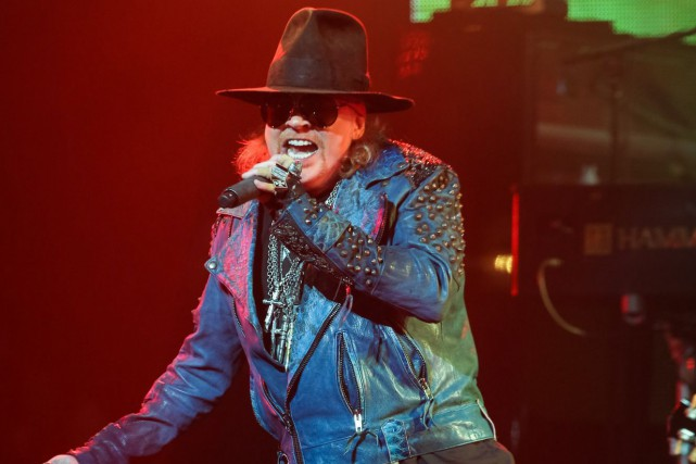 Le chanteur Axl Rose de Guns N' Roses... (PHOTO ARCHIVES AP)