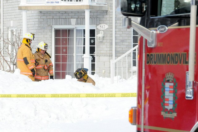 Les pompiers de Drummondville ont sauvé la vie... (Photo collaboration spéciale Éric Beaupré)