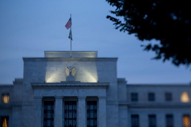 Les responsables de la banque centrale américaine ont... (PHOTO ANDREW HARRER, ARCHIVES BLOOMBERG)