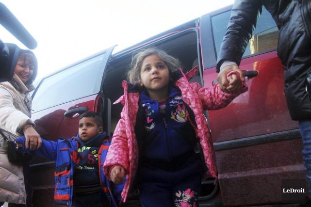 Une famille de huit syriens, parrainée par l'État,... (Etienne Ranger, LeDroit)