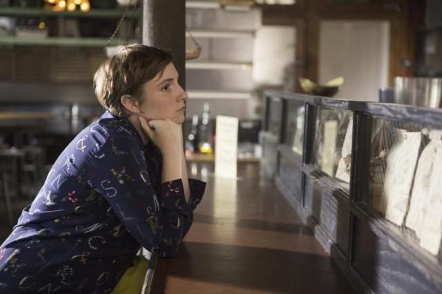 Lena Dunham dans une scène de Girls.... (PHOTO AP)