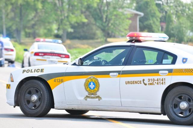 La Sûreté du Québec a arrêté trois individus... (photo: Émilie O'Connor)