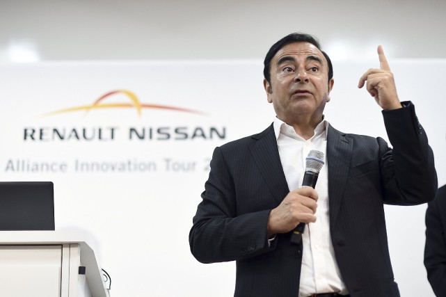 Le PDG de Renault-Nissan,Carlos Ghosn...