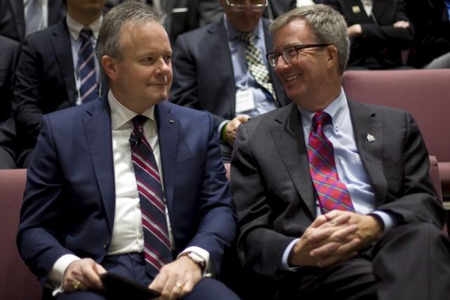 Le maire Jim Watson a assisté au discours... (La Presse Canadienne)