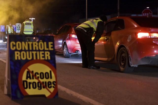 Au Québec, 1350 personnes ont été arrêtées pour conduite avec les facultés... (François Gervais)