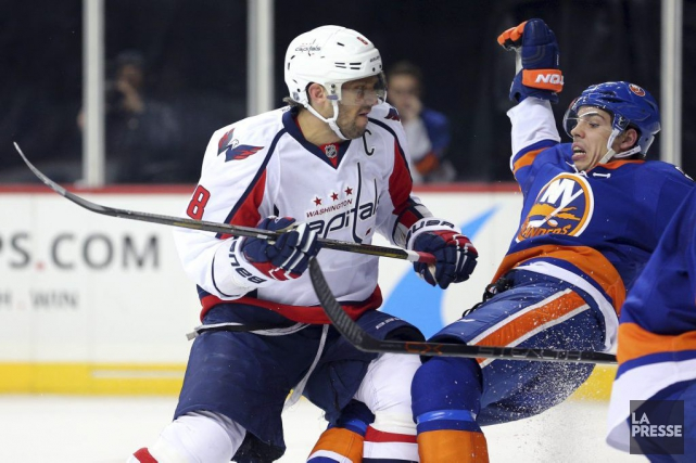 Alexander Ovechkin a inscrit son 497e but en... (Photo USA Today Sports)