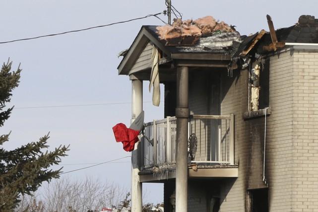 Le feu s'est déclaré mercredi vers 16h45 dans... (Photo Janick Marois)