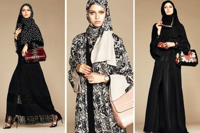 Les grandes et larges robes de la nouvelle... (Photos Dolce & Gabbana / Photomontage lapresse.ca)