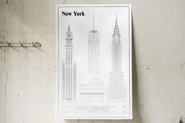L'affiche The New York Elevations met en vedette... (Photo tirée d'Instagram (@studioesinam))
