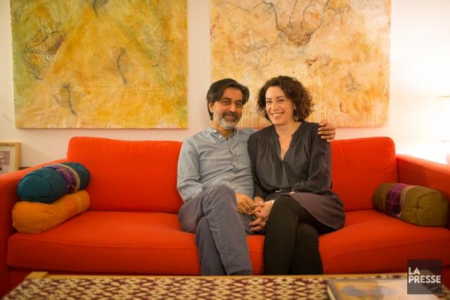 Zabi Enâyat-Zâda et Carolyne Jannard... (PHOTO OLIVIER PONTBRIAND, LA PRESSE)