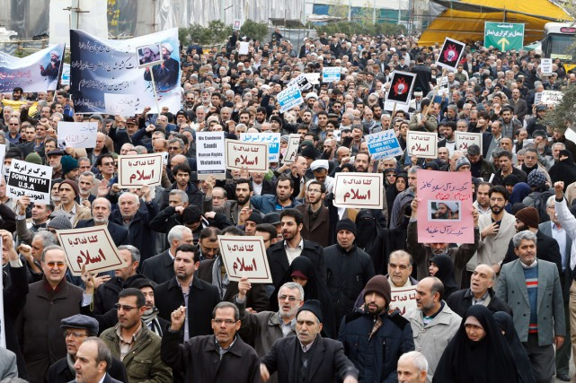 Des Iraniens ont une nouvelle fois manifesté en... (Photo AFP)