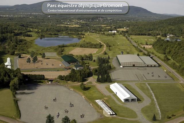 On voit ici le site équestre olympique de... (Tirée du site Internet du Parc équestre olympique)