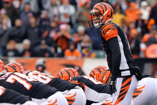 Désormais aux commandes des Bengals, A.J. McCarron démontre... (PHOTO AARON DOSTER, ARCHIVES USA TODAY SPORTS)