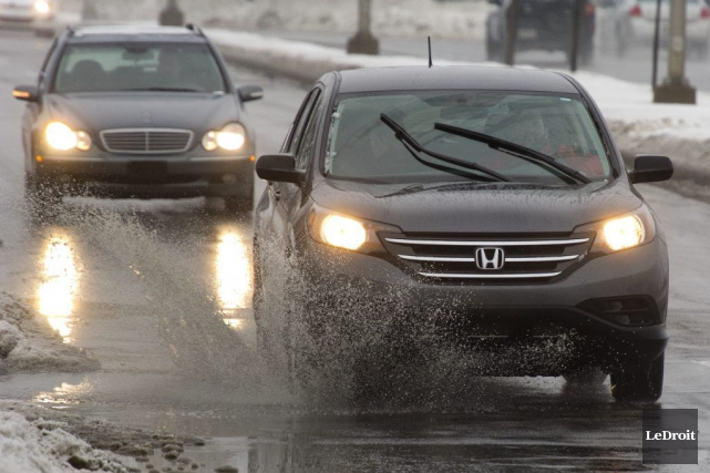 La pluie devrait continuer de tomber jusqu'à dimanche... (Martin Roy, LeDroit)
