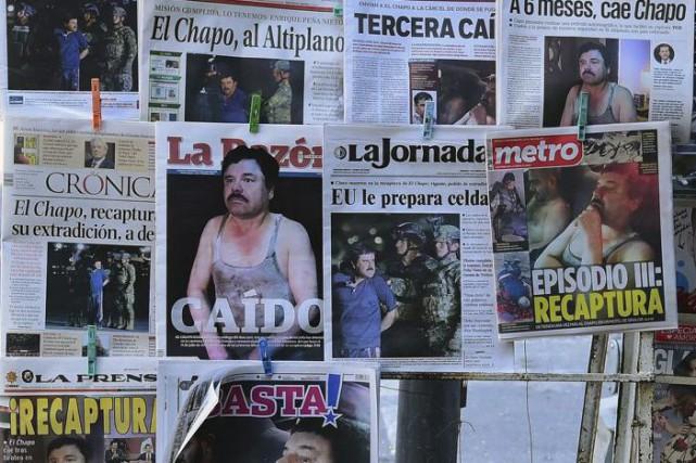 Les journaux de Mexico ont fait leur une... (AFP, Alfredo Estrella)