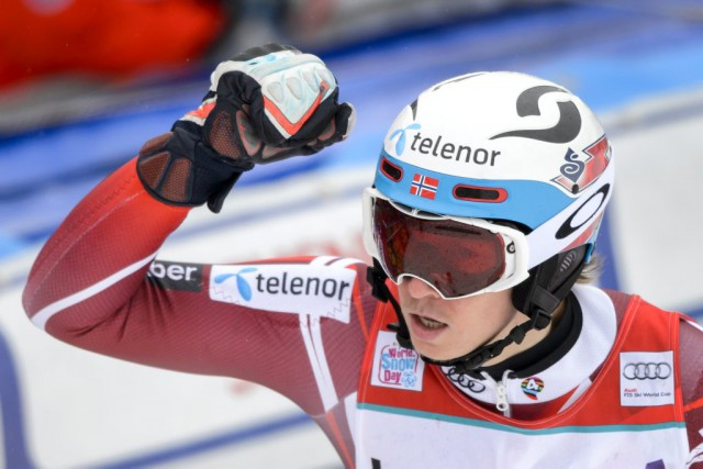 Henrik Kristoffersen... (PHOTO FABRICE COFFRINI, AFP)