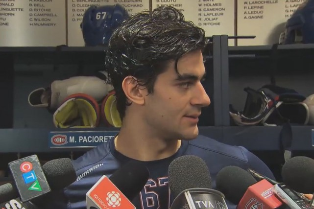 Max Pacioretty a jeté un regard en direction... (Photo tirée de Twitter)