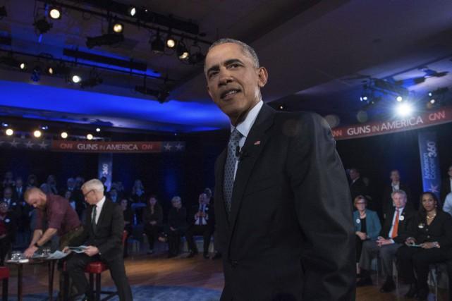 Barack Obamaprononcera mardi son ultime discours sur l'état... (PHOTO NICHOLAS KAMM, AFP)