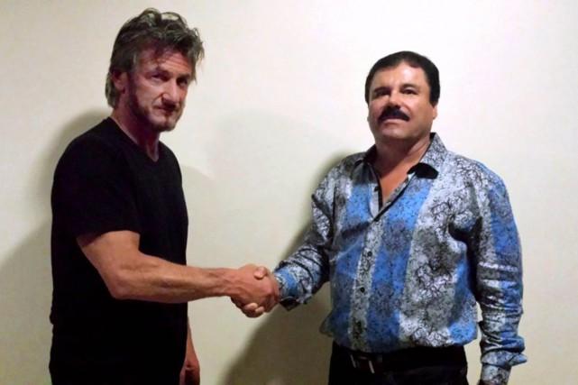 Sean Penn en compagnie deJoaquin «El Chapo» Guzman.... (TIRÉE DU SITE ROLLINGSTONE.COM)