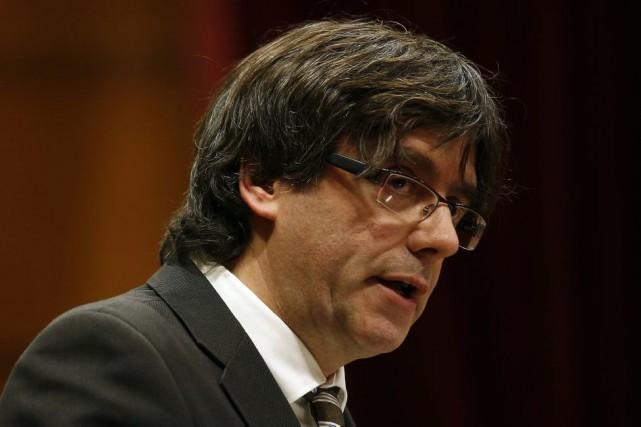 Membre du même parti qu'Artur Mas, M. Puigdemont,... (AP, Manu Fernandez)