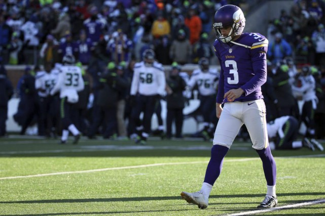 Blair Walsh a raté un placement de 27... (Photo USA Today Sports)