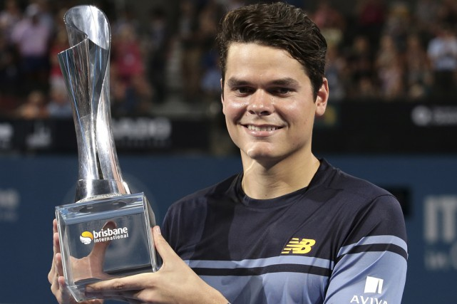 Milos Raonic a entamé sa saison en obtenant... (Associated Press)