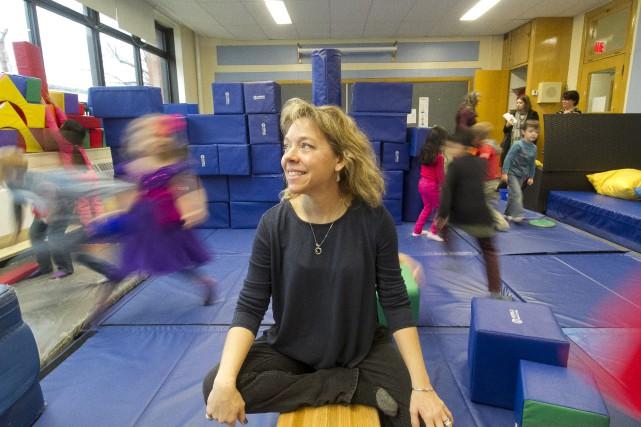 L'enseignante Julie Houle et sa classe ont passé... (Spectre Média, René Marquis)