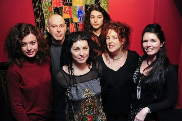 Voici six des artistes présents lors du vernissage...