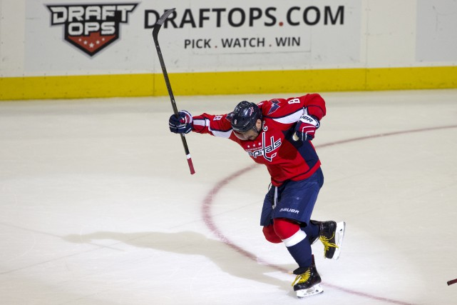 Alexander Ovechkin a inscrit son 500e but en... (AP, Jacquelyn Martin)