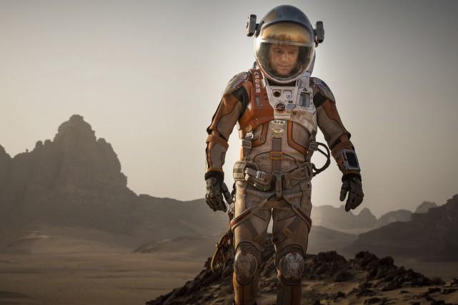 Matt Damon dans Seul sur Mars... (Associated Press)