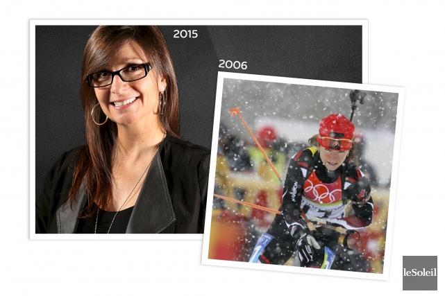 L'ancienne biathlonienne et athlète olympique Martine Albert est... (Infographie Le Soleil)
