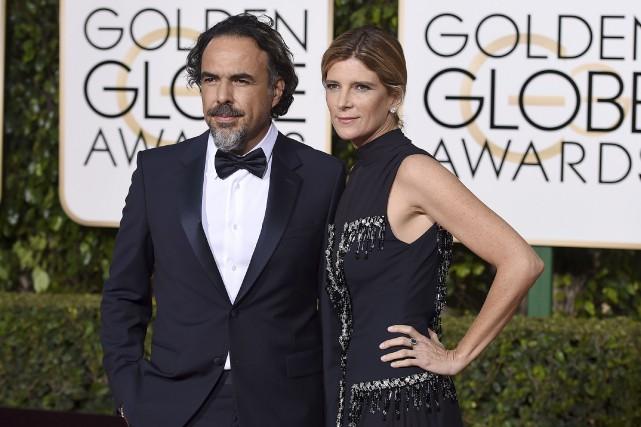 Alejandro Inarritu et son épouse sur le tapis... (Associated Press)