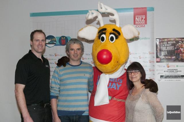 Le gagnant du concours d'Opération Nez rouge et de la Brasserie Labatt, pour... (Photo Le Quotidien, Michel Tremblay)