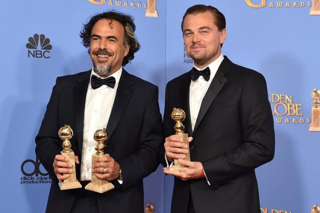 Le réalisateur et la vedette deThe Revenant, Alejandro... (PHOTO AP)