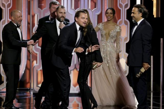 Leonardo DiCaprio a été couronné meilleur acteur dans... (NBC via AP)