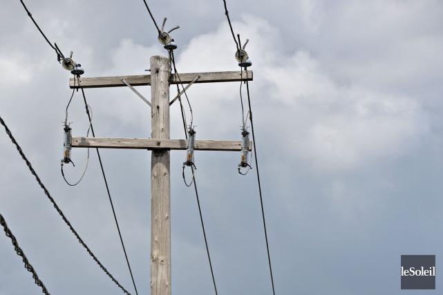 Des branches brisées par les vents très forts ont endommagé le réseau... (Photo Pascal Ratthé, archives Le Soleil)