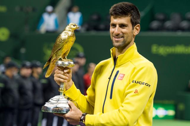 Novak Djokovic a remporté le tournoi de Doha,... (Photo Alexandra Panagiotidou, AP)