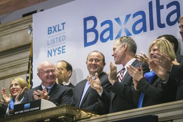 Les dirigeants de Baxalta en juin 2015 lors... (Photo Lucas Jackson, Reuters)