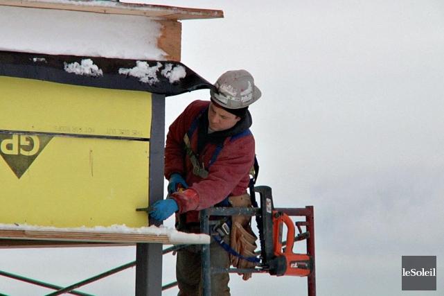 En juin, le nombre de mises en chantier de condos dans la région de Québec... (Photothèque Le Soleil, Frédéric Matte)