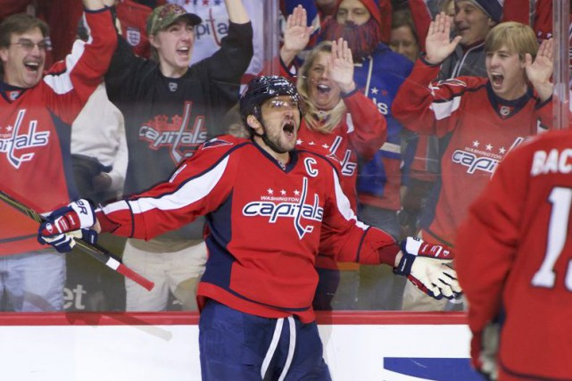 Alexander Ovechkin a marqué son 500e but dimanche.... (PHOTO RAFAEL SUANES, USA TODAY)