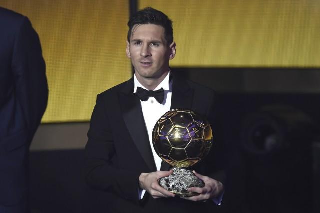 Lionel Messi a remporté son 5eBallon d'Or, trophée... (Agence France-Presse, Olivier Morin)