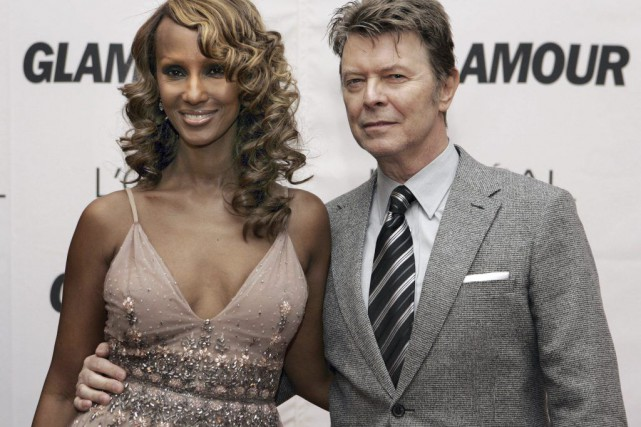 David Bowie et sa femme Iman, photographiés en 2006.... (Photo Stan HONDA, archives AFP)