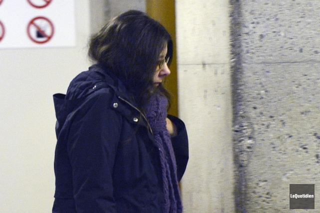 Tout au long des représentations, Nelly Bilodeau est... (Photo Le Quotidien, Jeannot Lévesque)