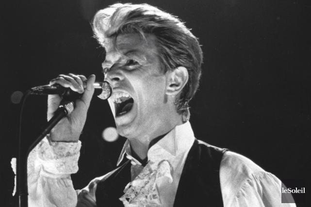 David Bowie lors du lancement de sa tournée... (Archives Le Soleil, Patrice Laroche)