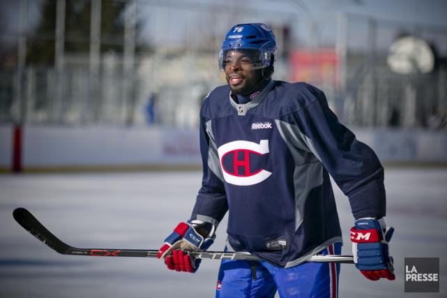 P.K. Subban et les joueurs du Canadien se... (La Presse)